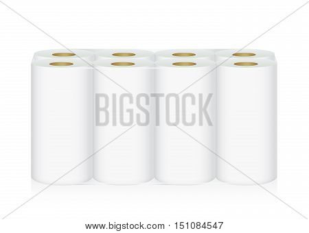 White Tissue Paper includes 8 roll in pack blank label and no text for mock up packaging