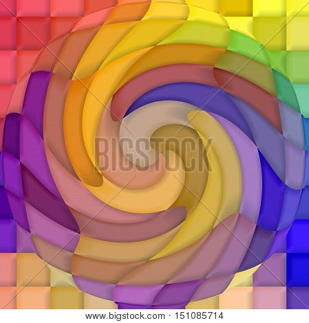 Abstract coloring background of the pastels gradient with visual mosaic,spherize and twirl effects