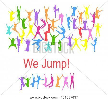 People Jumping Win-Win