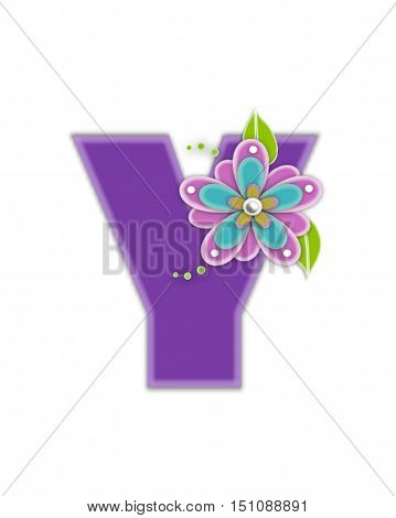 Alphabet Living Lilac Y
