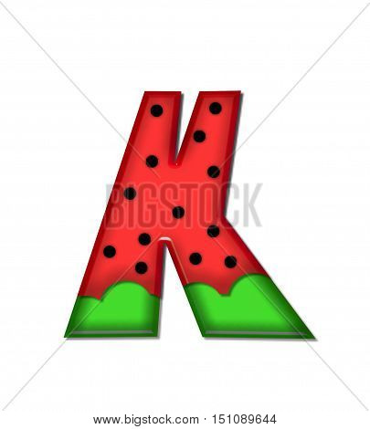Alphabet Watermelon K