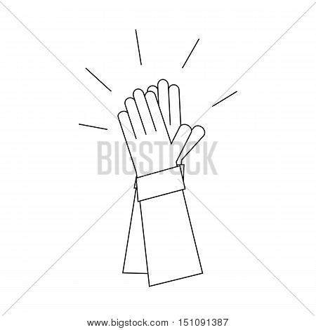 Applause. Hands clap. Vector illustration of style line.