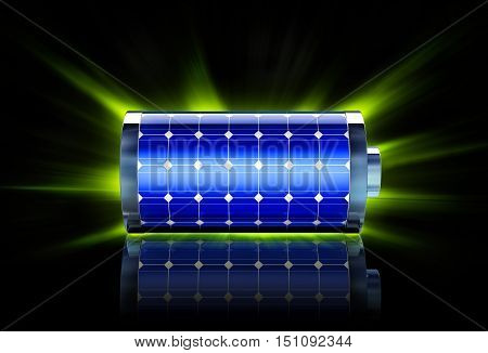 3D rendering of a battery as a green energy concept