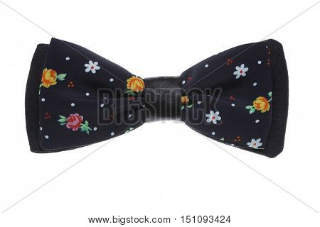 Black bow tie. Isolated on white.
