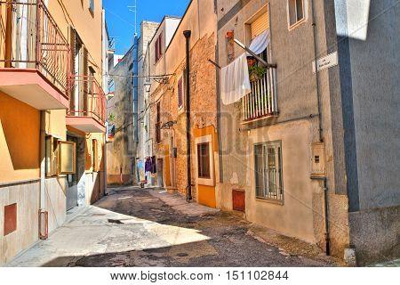 Alleyway. Acquaviva delle fonti. Puglia. Southern Italy.