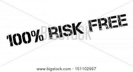 100 Percent Risk Free Rubber Stamp