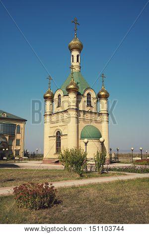 Russian Chapel in the Caucasus.  Christian church.
