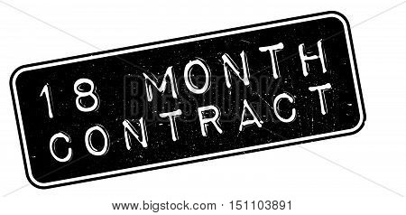 18 Month Contract Rubber Stamp