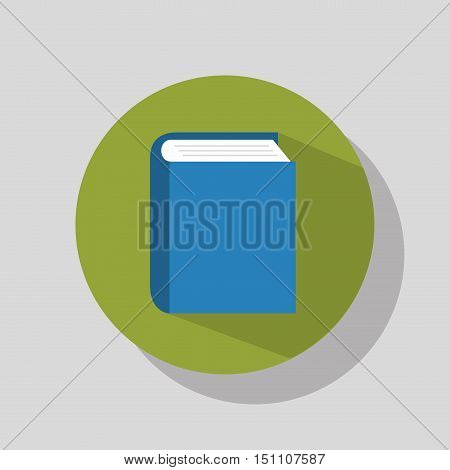educational book icon over green circle. vector illustration