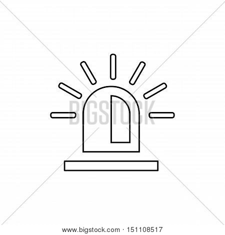 Police flasher outline icon on the white background. Vector design