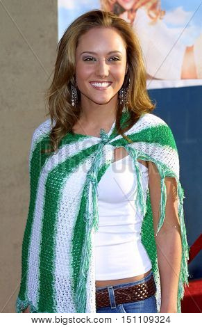 Lauren C. Mayhew at the Los Angeles premiere of 'Raising Helen' held at the El Capitan Theatre in Hollywood, USA on May 26, 2004.