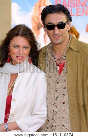Emin Boztepe and Jacqueline Bisset at the Los Angeles premiere of 'Raising Helen' held at the El Capitan Theatre in Hollywood, USA on May 26, 2004.