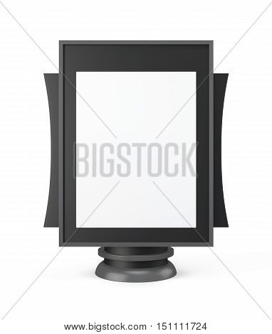 Mockup For Outdoor Advertising Isolated On A White Background. 3D Rendering