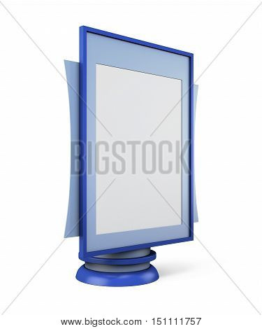 Template Of Advertising Stand For Your Design. 3D Rendering
