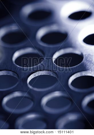 Steel Metal Background, Blue Toned.