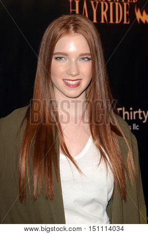 LOS ANGELES - OCT 9:  Annalise Basso at the Haunted Hayride 8th Annual VIP Black Carpet Event at the Griffith Park on October 9, 2016 in Los Angeles, CA