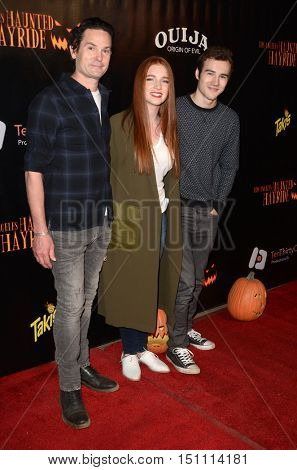 LOS ANGELES - OCT 9:  Henry Thomas, Annalise Basso, Parker Mack at the Haunted Hayride 8th Annual VIP Black Carpet Event at the Griffith Park on October 9, 2016 in Los Angeles, CA