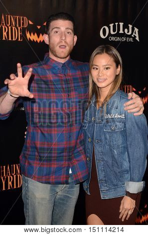LOS ANGELES - OCT 9:  Bryan Greenberg, Jamie Chung at the Haunted Hayride 8th Annual VIP Black Carpet Event at the Griffith Park on October 9, 2016 in Los Angeles, CA