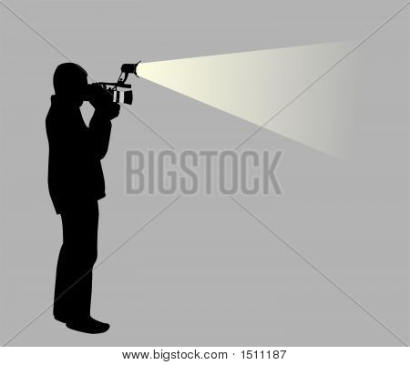 Operador de video (Vector)
