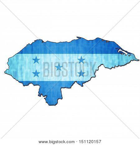 Honduras Territory With Flag