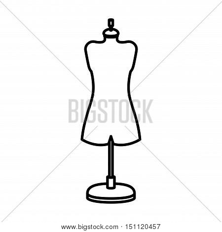 Manikin icon. Tailor sewing shop and fashion theme. Isolated design. Vector illustration