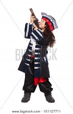 Little Boy Dressed As The Medieval Pirate