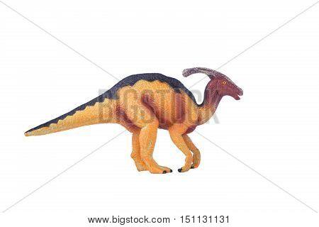 Dinosaur Toy Hadrosaurs , isolated at white background