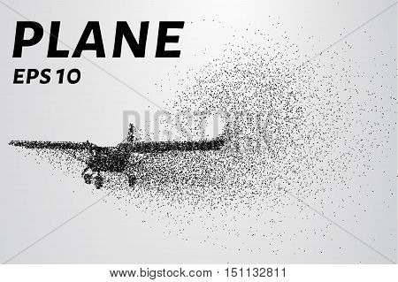 The plane of the particles. Agricultural aircraft consists of small circles.