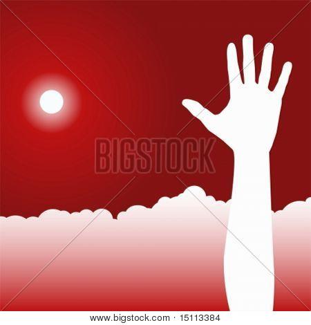 one hand sun