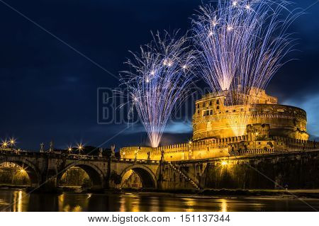 The seventh edition of the Pinwheel of Castel Sant'Angelo on the occasion of the celebration of Saints Peter and Paul the patron of the city of Rome.