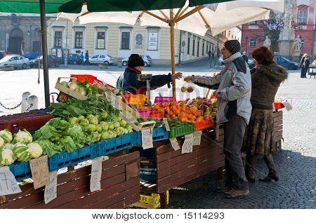 Vegetable Market In Brno