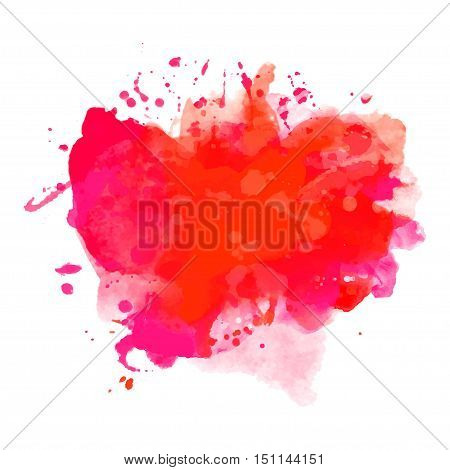 Abstract watercolor red coloring background banner Eps10 Vector illustration.