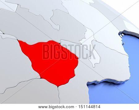 Zimbabwe On World Map