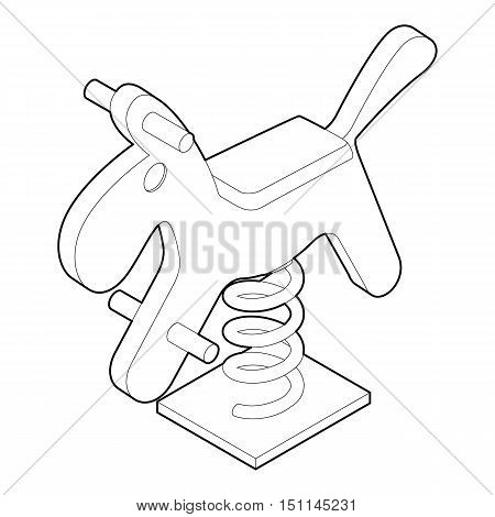 Horse spring see saw icon. Outline illustration of horse spring vector icon for web