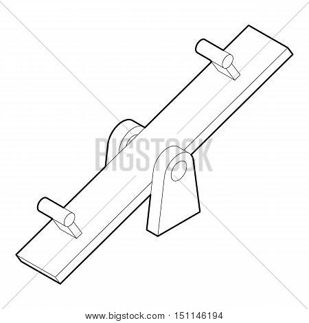 Seesaw icon. Outline illustration of seesaw vector icon for web