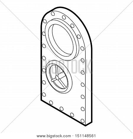 Safe door icon. Outline illustration of safe door vector icon for web