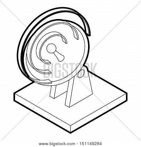Satellite dish icon. Outline illustration of satellite dish vector icon for web