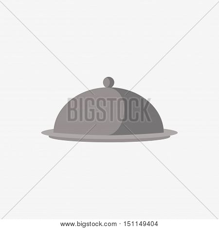 Cloche Food Plate Vector Sign Illustration Icon