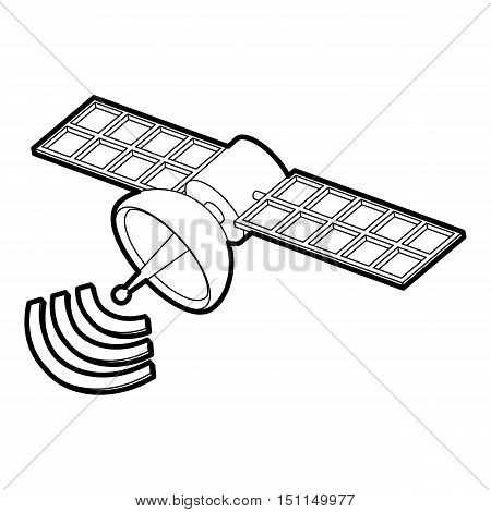 Space satellite icon. Outline illustration of space satellite vector icon for web