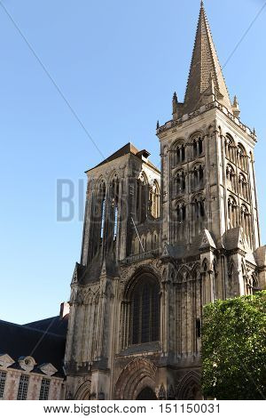 Lisieux France - September 7 2016: France the picturesque cathedral of Lisieux in Normandie