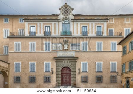 Apostolic Palace of Castel Gandolfo the summer residence of the Popes