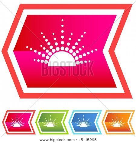 Sunrise Symbol Pfeil Winkel