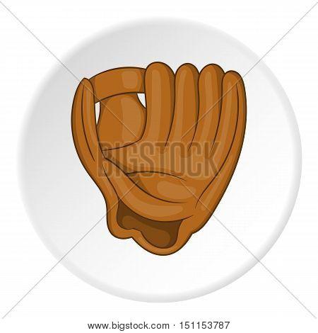 Baseball glove icon. cartoon illustration of baseball glove vector icon for web