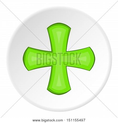 Green cross icon. cartoon illustration of green cross vector icon for web