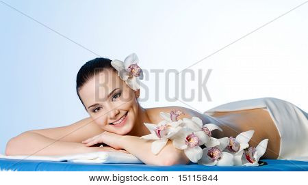 Smiling Woman In Beauty Salon