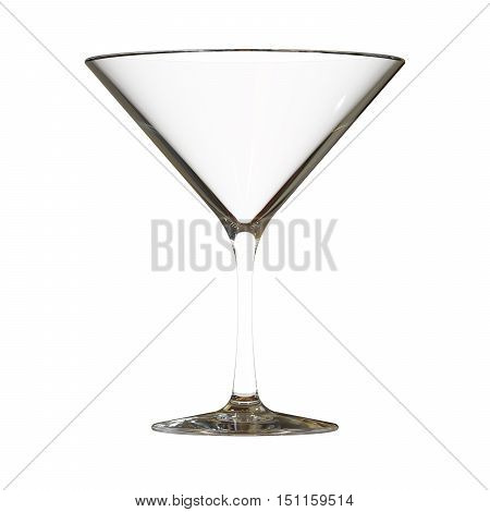Martini Glass 3D render isolated on white