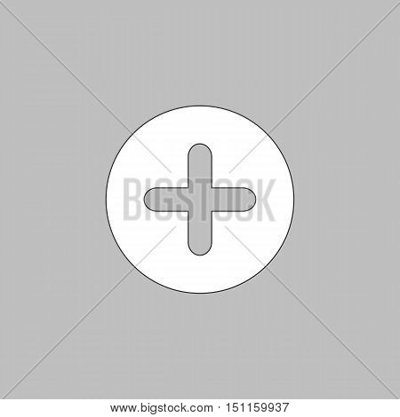 Plus Icon Vector. Flat simple color pictogram