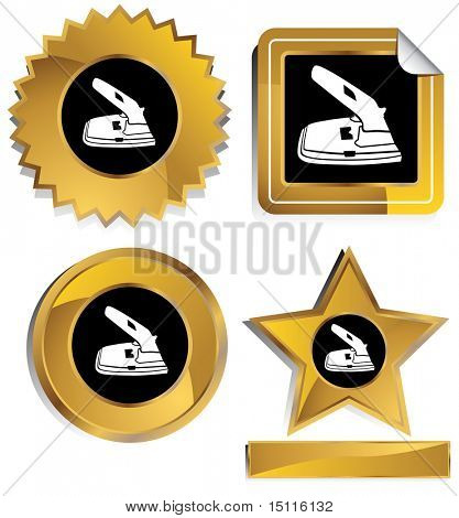 two hole paper puncher icon frame