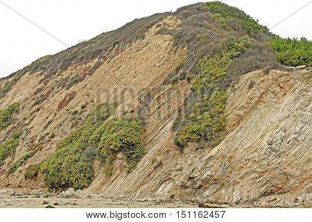 Dramatic Bluff on the Coast on Burro Arroyo Beach in Santa Barbara California