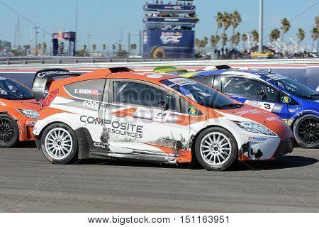 Colin Braun 54, Drives A Grc Lites Car, During The Red Bull Global Rallycross